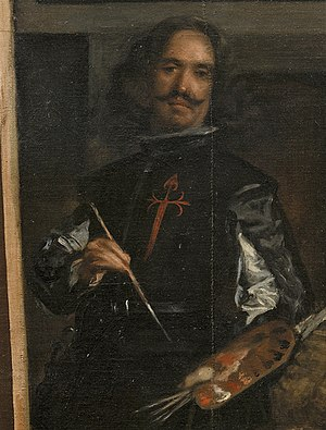 Self-Portrait with Palette (Manet) - Self-portrait by Diego Velázquez – detail of Las Meninas, 1656