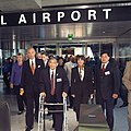 Dignitaries at SFIA station on opening day, June 2003.jpg