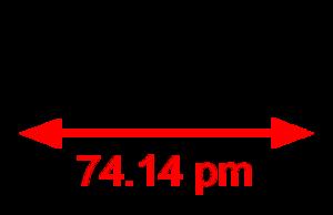 Liquid hydrogen - Image: Dihydrogen 2D dimensions