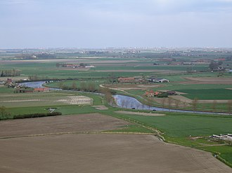Belgium - Polders along the Yser river.