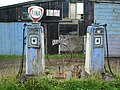Dilapidated petrol pumps at Whitechapel, Lancashire.jpg