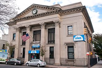 Dime Community Bank - The main branch on Havemeyer Street in Williamsburg, Brooklyn