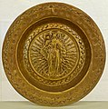 Dish with the Mary on the crescent moon, Nuremberg, early 1500s, brass - Germanisches Nationalmuseum - Nuremberg, Germany - DSC03698.jpg