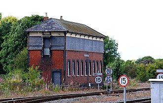 Princes Risborough railway station - The signal box pictured in 2009
