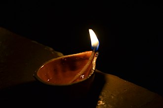 Bharatiya Jana Sangh - Diya, a traditional oil lamp, was the symbol of the party