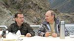 Dmitry Medvedev and Vladimir Putin 20 July 2013 01.jpg
