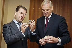 Gerard Kleisterlee - Kleisterlee with Russian President Dmitry Medvedev, Amsterdam, 2009