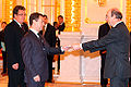 Dmitry Medvedev with Bertrand de Crombrugghe de Picquendaele.jpg