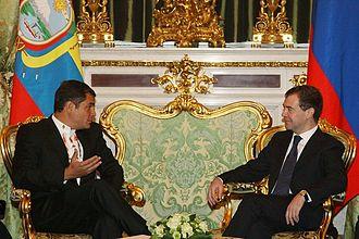 Rafael Correa - Rafael Correa with Dmitry Medvedev