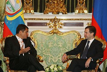 Dmitry Medvedev with Rafael Correa-1