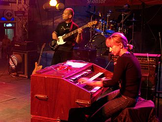 Rhythm section - This Polish group's rhythm section consists of a Hammond organist, an electric bassist, and a drummer.