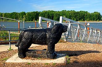 Seaman (dog) - Statue of Seaman at Columbia View Park in St. Helens, Oregon