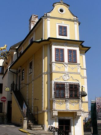 Rococo - Rococo-style House of the Good Shepherd in Bratislava (Slovakia) - an example of the 18th century bourgeoisie house.