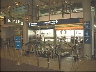 Domestic Airport railway station, Sydney - Image: Domestic Terminal Railway 2