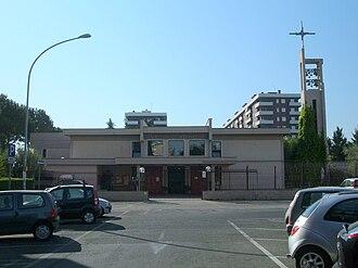 Santa Maria Domenica Mazzarello, Rome - Entrance to Santa Maria Domenica Mazzarello