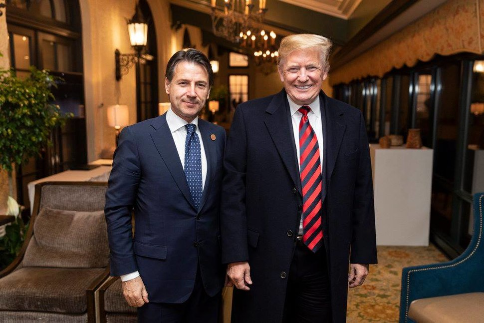 Donald Trump with Giuseppe Conte at the Fairmont Le Manoir Richelieu, in Charlevoix, Canada - 2018