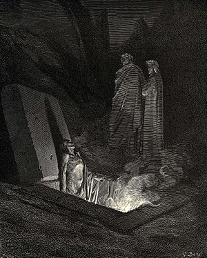 A vision of Hell from Dante's Divine Comedy. I...