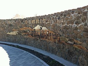 Dorris, California - Mural on the Fire Department campus in Dorris.