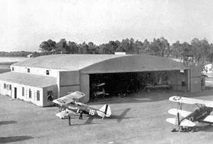 Douglas Municipal Airport (Georgia) - One of the hangars at Douglas AAF, about 1943