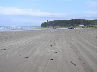 The North Remembers - Downhill Strand was used to represent a beach of the island of Dragonstone, where the statues of the Seven were burned