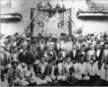 Dr. Babasaheb Ambedkar with his colleagues of Nandgaon in hotel.png
