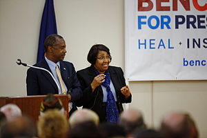 Candy Carson - Carson alongside her husband Ben during his 2016 presidential campaign