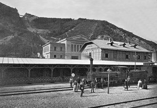 Drahtseilbahn Leopoldsberg-Gesamtansicht Franz Josefs Bahn-1873