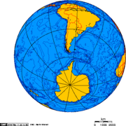 Drake Passage - Orthographic projection