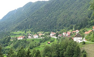 Battle of Dražgoše - The village of Dražgoše below the Jelovica Plateau