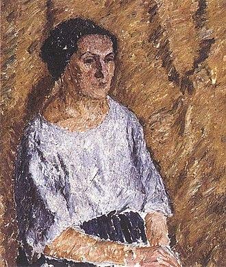 Nadezhda Udaltsova - portrait by Aleksandr Drevin