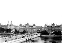 The current bridge in 1899