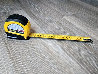 Tape measure - A dual scale inch/centimeter tape measure.