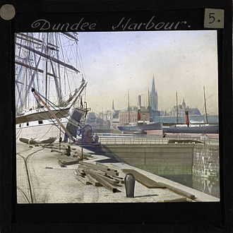 History of Dundee - Dundee Harbour, late 19th century