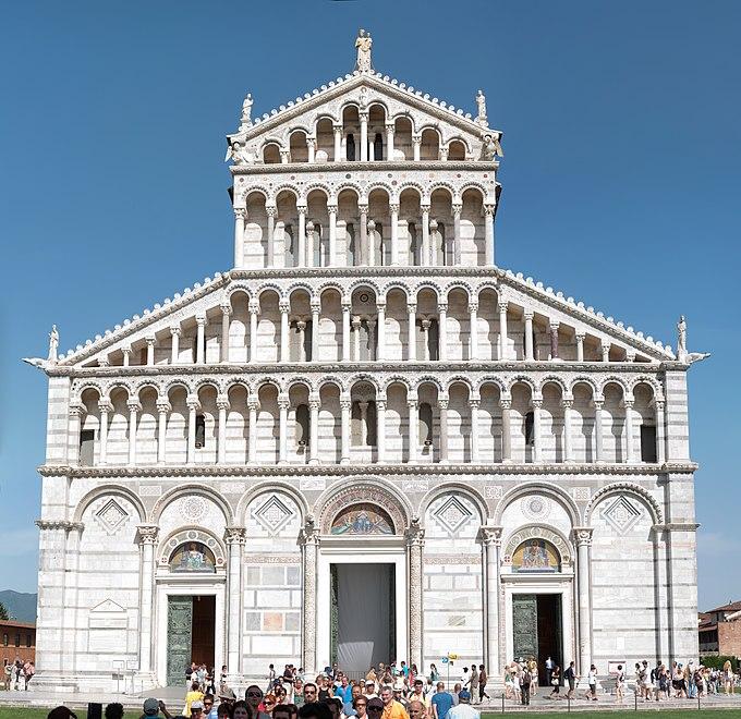 Duomo di Pisa Front Facade 2009