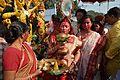 Durga Idol Immersion Procession - Baja Kadamtala Ghat - Kolkata 2012-10-24 1460.JPG