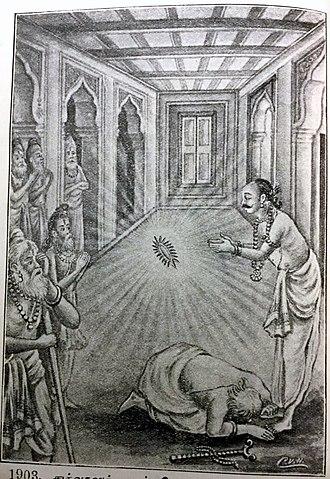 Durvasa - Durvasa falls at the feet of Ambarish and asks for pardon