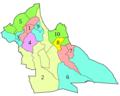 Dz 03 Wilaya de Laghouat map dairas numbers.png