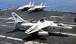 EA-3B Skywarrior of VQ-2 aboard USS Nimitz (CVN-68) in 1985.jpg