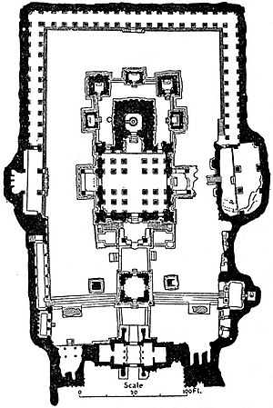 EB1911 Indian Architecture - Plan of Kailās at Ellora.jpg