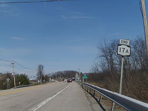 New York State Route 17A - NY 17A at its northern terminus at exit 124 in Goshen