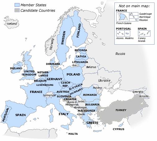 EU map names isles