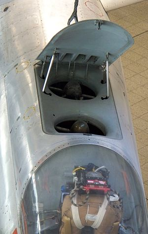 EWR VJ 101 - Top view, showing the air intake for the two fuselage lift engines