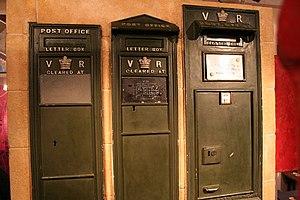 English: Early Victorian Postboxes, Bath Posta...
