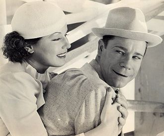 Joe E. Brown - with June Travis in Earthworm Tractors (1936)