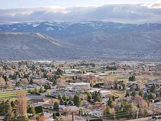 East Wenatchee, Washington - East Wenatchee Washington- looking south, Columbia River in the valley below