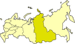 East Siberian economic region - East Siberian economic region on the map of Russia