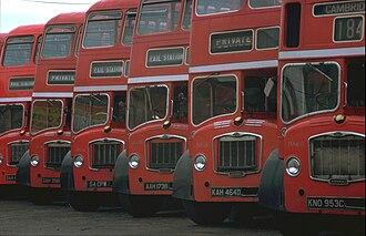 First Norfolk & Suffolk - Bristol Lodekkas at Cambridge depot in September 1977