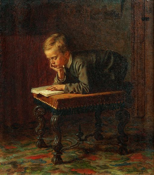 Eastman Johnson - Reading Boy