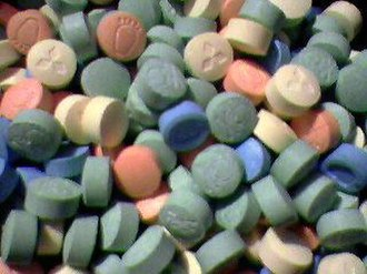 Environmental impact of pharmaceuticals and personal care products - Image: Ecstasy Pills