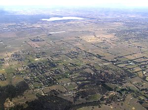 Eden Park, Victoria - Aerial view of Eden Park from the north-west